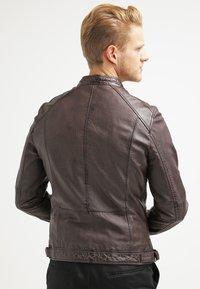 Oakwood - CASEY  - Kožená bunda - dark brown - 2