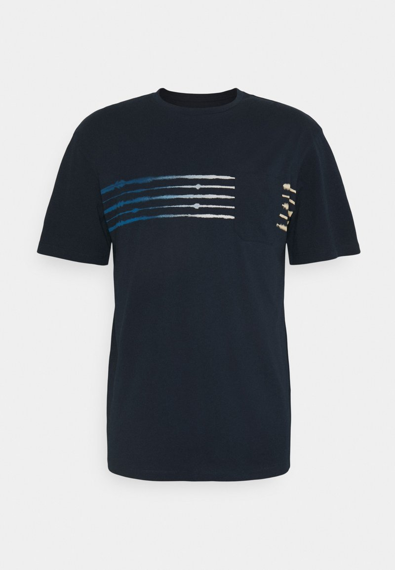 Jack & Jones - JORSHIBORI TEE CREW NECK - Print T-shirt - navy blazer