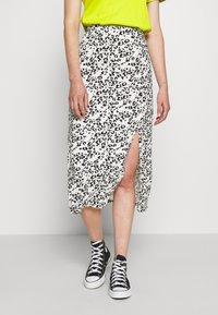 Even&Odd - Falda de tubo - white/black - 0