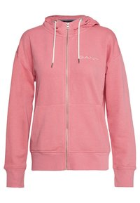 GANT - STRIPES FULL ZIP HOODIE - veste en sweat zippée - chateau rose - 1
