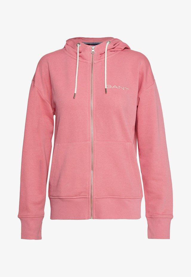 STRIPES FULL ZIP HOODIE - Zip-up hoodie - chateau rose