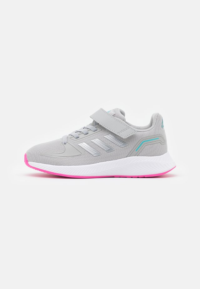 RUNFALCON 2.0 UNISEX - Neutral running shoes - grey two/silver metallic/screaming pink
