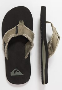 Quiksilver - MONKEY ABYSS - Slippers - green/black/brown - 1