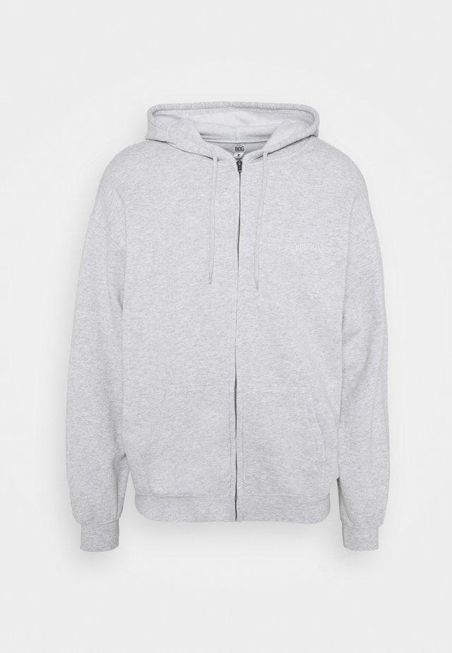 ZIP UP HOODIE UNISEX - Zip-up hoodie - grey