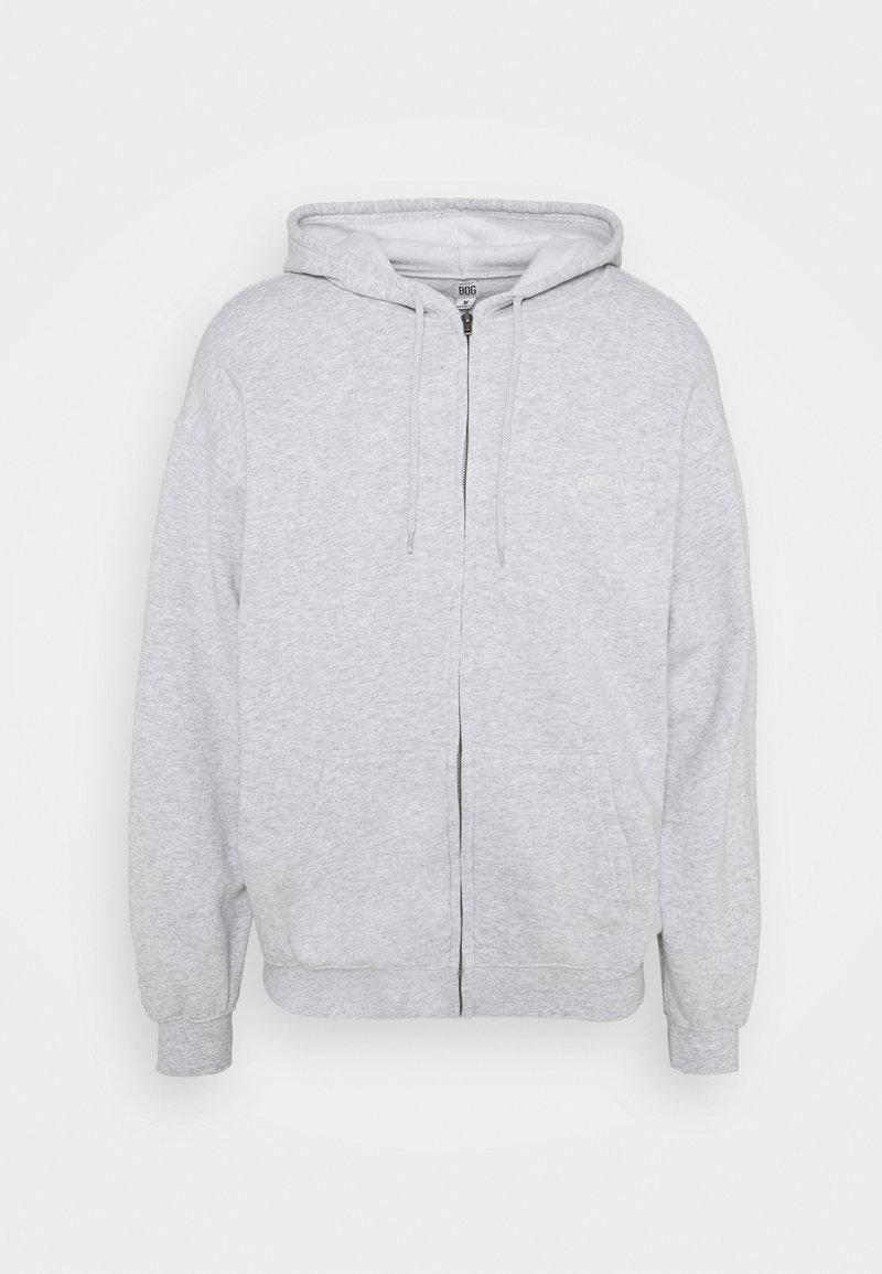 BDG Urban Outfitters - ZIP UP HOODIE UNISEX - Felpa con zip - grey