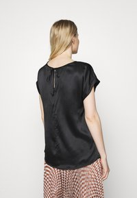 Marc O'Polo PURE - BLOUSE SHORT SLEEVE - Blouse - pure black