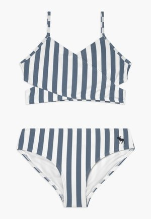 WRAP FRONT SET - Bikini - blue/white