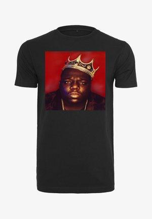 BIG CROWN - T-shirt imprimé - black