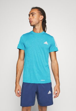 Camiseta de deporte - signal cyan melange