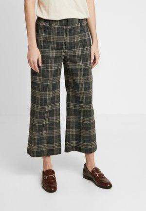 EVERYBODY WIDE LEG COZY WINDOWPANE - Spodnie materiałowe - medium heather grey