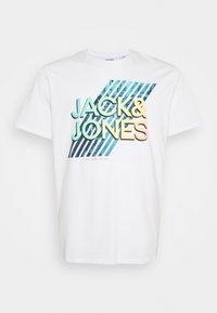 Jack & Jones - JJSPRING TEE CREW NECK - Print T-shirt - white - 0