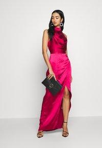 Chi Chi London - CHRYSTA DRESS - Occasion wear - burgundy - 1