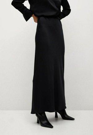 NIGHT-A - Maxi skirt - zwart