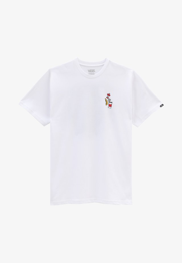 MN GRIM PICK UP SS - T-shirt con stampa - white