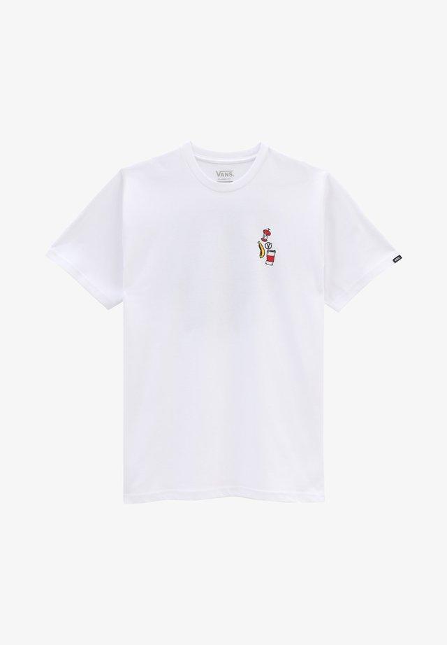 MN GRIM PICK UP SS - T-shirt print - white
