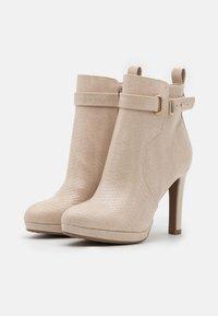 Buffalo - VEGAN AUDRINA - High heeled ankle boots - nude - 2