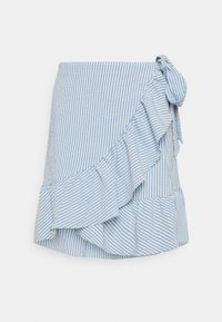 ONLY - ONLCARLY BETTI LIFE WRAP STRIP SKIRT - Wrap skirt - cloud dancer/allure - 4