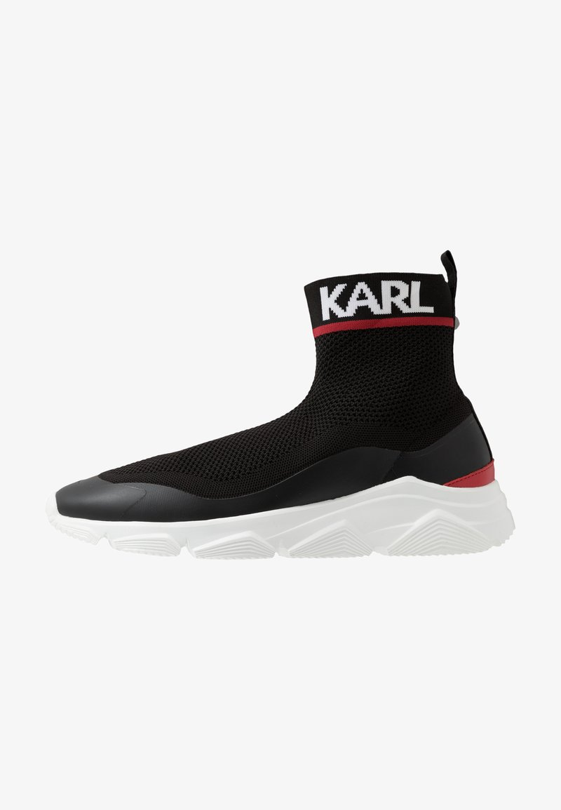 KARL LAGERFELD - VERGE PULL ON RUNNER - Zapatillas altas - black