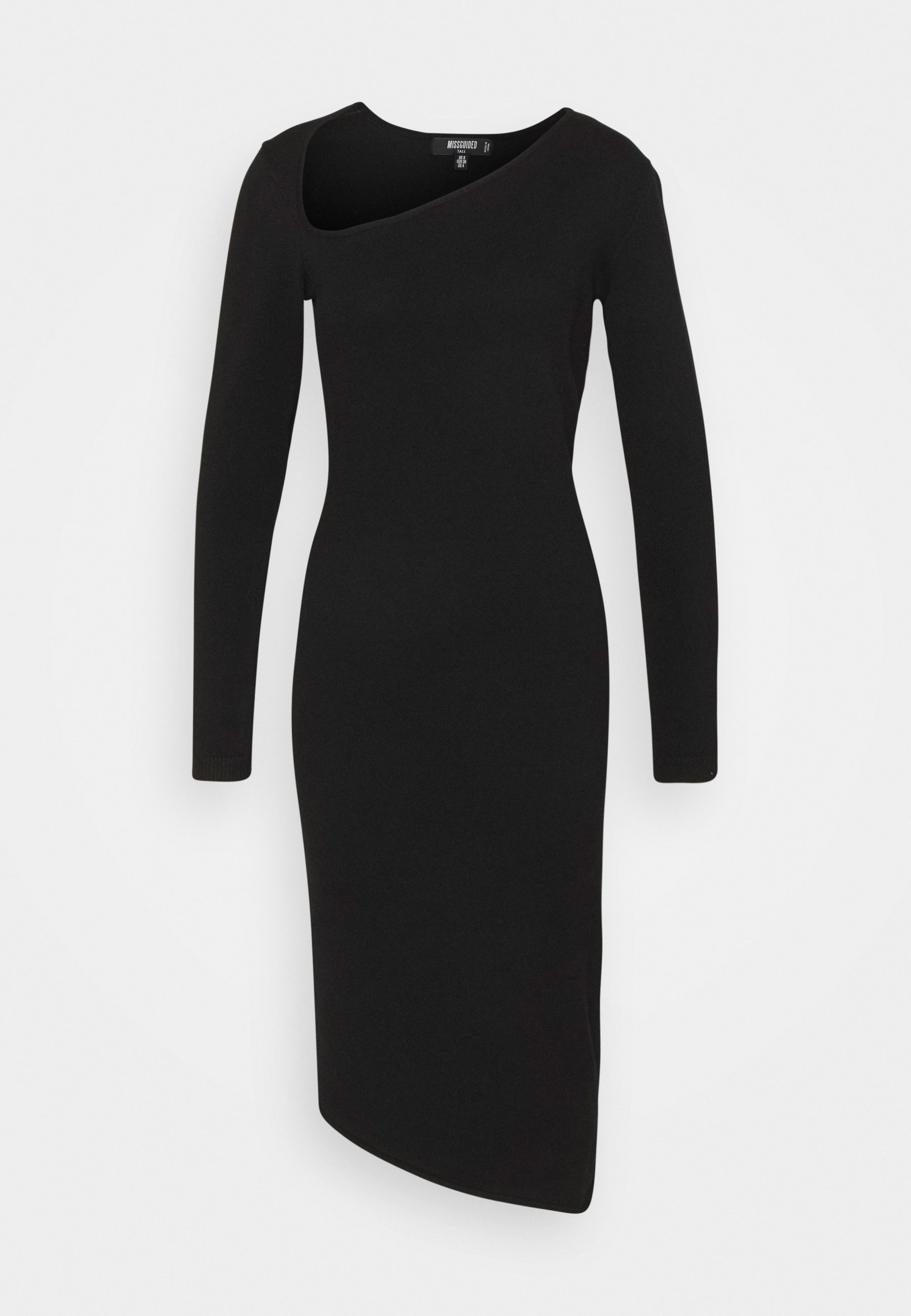 Women ASYMMETRIC NECK AND HEM MIDI DRESS - Jumper dress