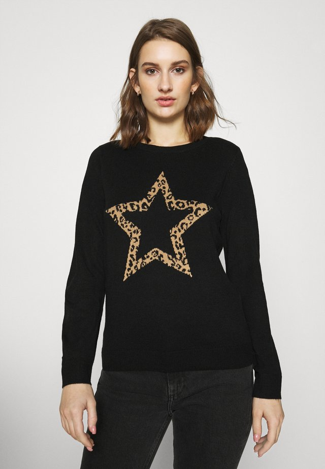 ANIMAL STAR CREW NECK JUMPER - Jumper - black