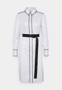 KARL LAGERFELD - SHIRTDRESS CONTRAST DETAIL - Shirt dress - white - 0