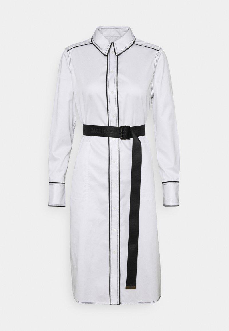KARL LAGERFELD - SHIRTDRESS CONTRAST DETAIL - Shirt dress - white