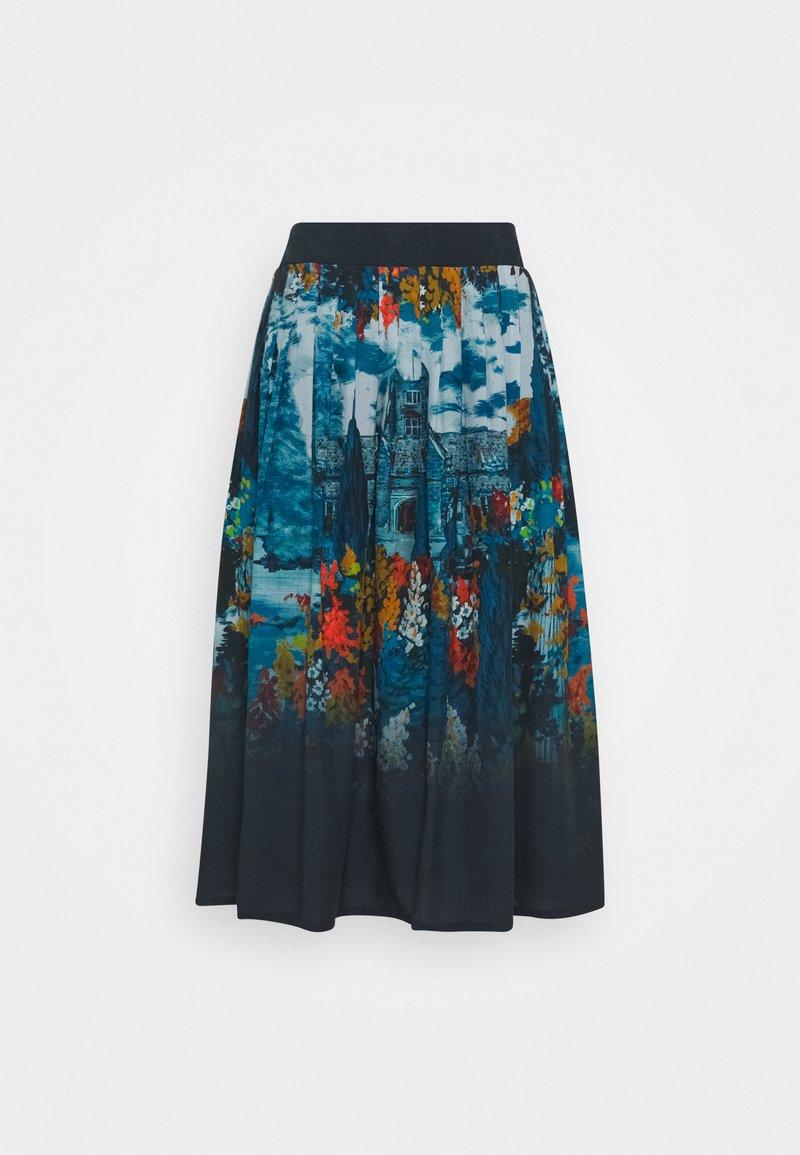 Thought - SISSINGHURST SKIRT - A-line skirt - midnight navy