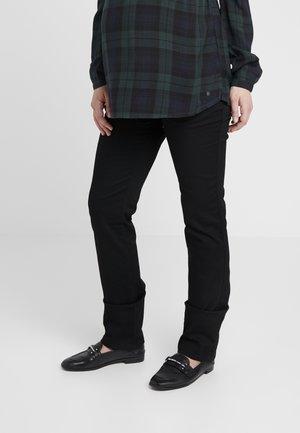 PANTS GRACE - Džíny Straight Fit - black