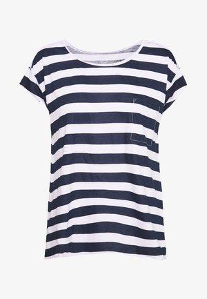T-shirts med print - dark blue/white
