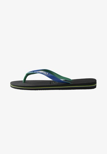 BRASIL MIX - Pool shoes - black, blue