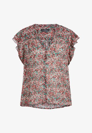 Blouse - white red