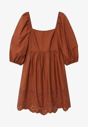 Korte jurk - orange brûlé