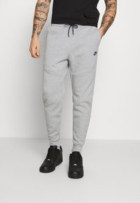 Nike Sportswear - M NSW TCH FLC JGGR - Trainingsbroek - grey heather/black - 0