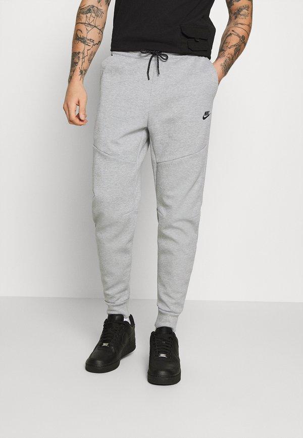 Nike Sportswear M NSW TCH FLC JGGR - Spodnie treningowe - grey heather/black/srebrny Odzież Męska MDPH