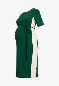 Glamorous Bloom - MIDI STRIPE DRESS WITH KNOT BELT - Jerseyjurk - dark green/contrast - 3