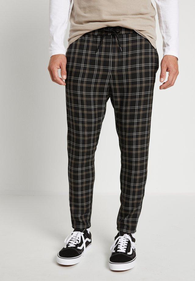 ONSLINUS CROPPED PANT - Spodnie materiałowe - black