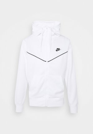REPEAT HOODIE - veste en sweat zippée - white/black