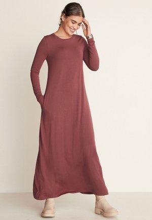 LONG SLEEVE COLUMN - Maxi dress - berry