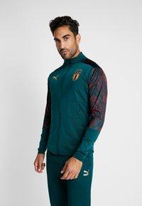 Puma - ITALIEN FIGC STADIUM THIRD JACKET - Træningsjakker - ponderosa pine/cordovan - 0