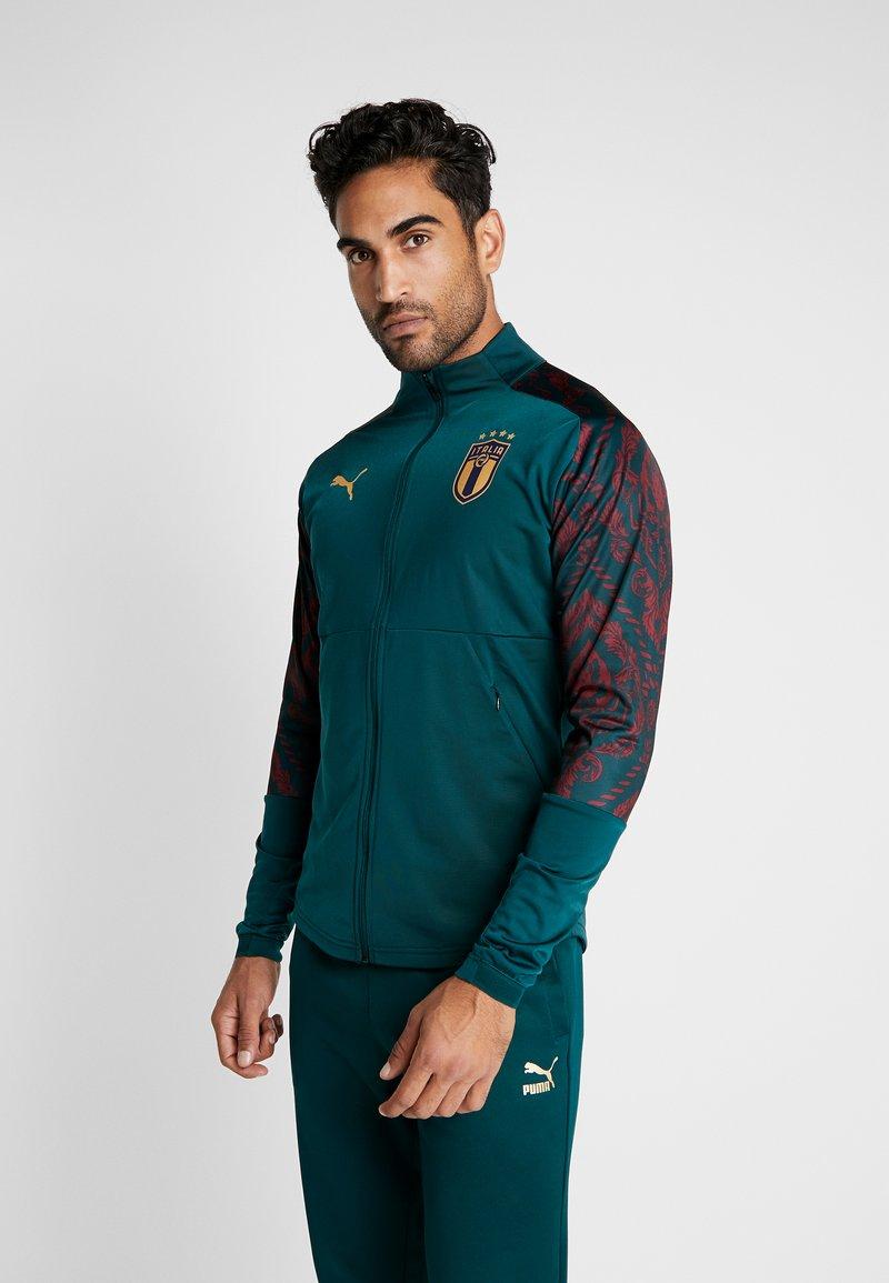 Puma - ITALIEN FIGC STADIUM THIRD JACKET - Træningsjakker - ponderosa pine/cordovan