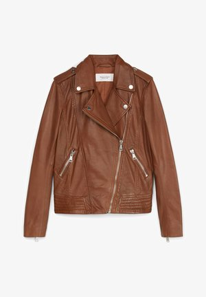 PERFECTO - Leather jacket - fantastic brown