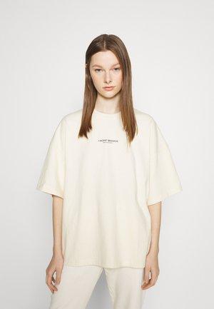 BOLD WASHED WOMEN - Print T-shirt - creme