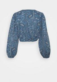 American Eagle - TIE FRONT - Camiseta de manga larga - blue - 1