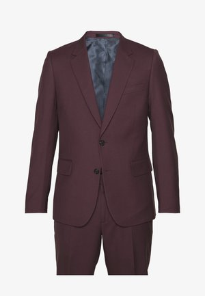 GENTS TAILORED FIT BUTTON SUIT - Completo - bordeaux