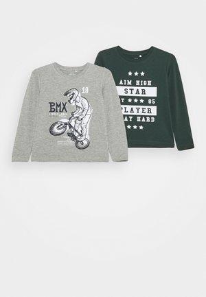 NMMVUX 2 PACK - Langærmede T-shirts - grey melange