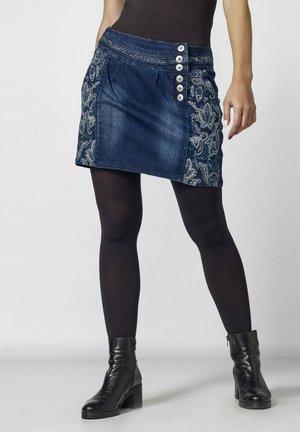 Falda de tubo - azul oscuro