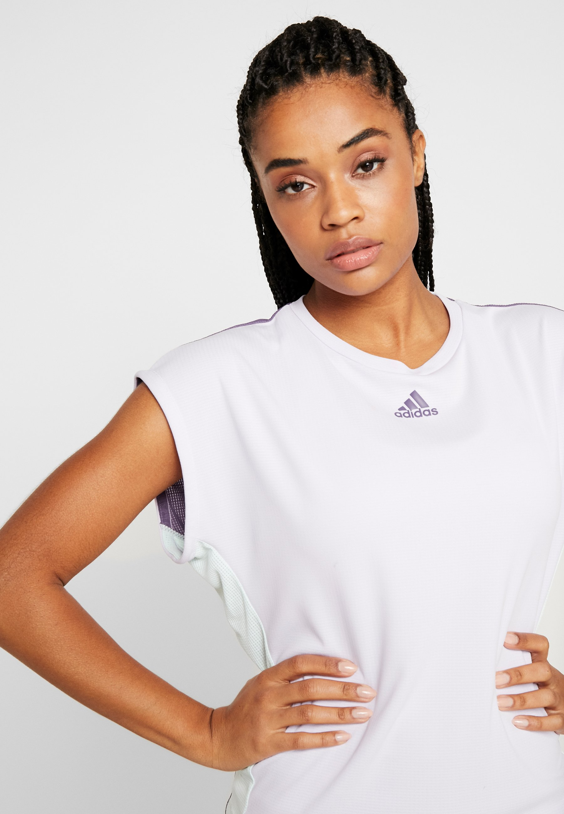 adidas Performance TEE T Shirt basic purple Zalando.at