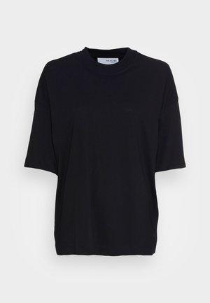 SLFRELAXCOLE  HIGH NECK TEE  - T-shirts - black