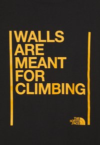The North Face - WALLS ARE MEANT FOR CLIMBING - Triko spotiskem - black - 2