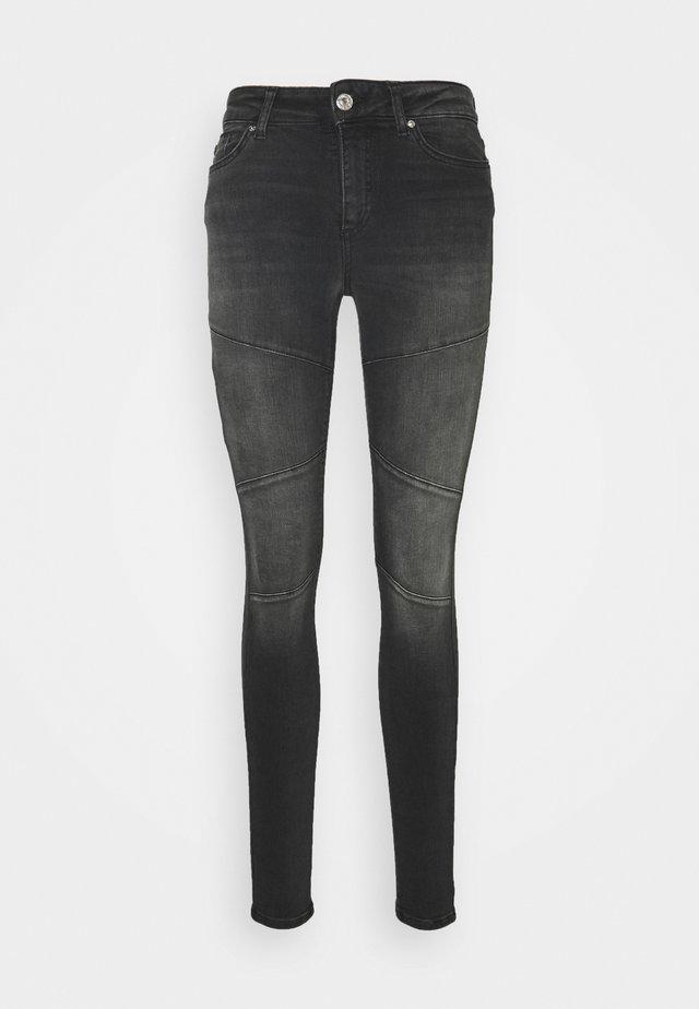 ONLBLUSH CUT LIFE - Jeans Skinny Fit - black denim